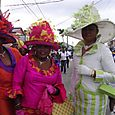 Church ladies on parade