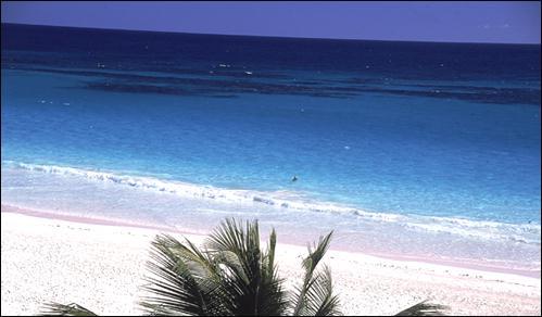 The three-mile pink sand beach