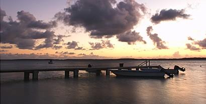 PLP dock at sunset